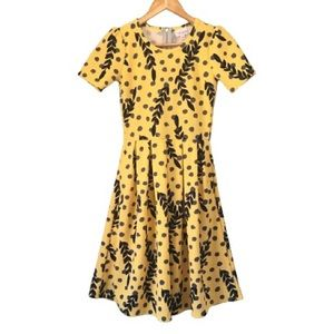 LuLaRoe Amelia Yellow Floral Limited Edition Dress